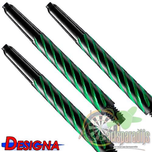 Spiroline Nylon Shaft Zwart-Groen Medium