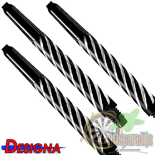 Spiroline Nylon Shaft Zwart-Wit Medium