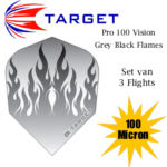 Pro 100 Vision Grey Flames