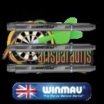 Winmau prism shafts medium zwart