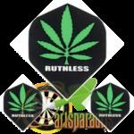 Ruthles R4X Groen Wietblad op Zwart