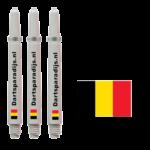 Shafts met de vlag van Belgie en tekst