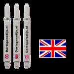 Shafts met de vlag van Engeland en tekst