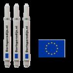 Shafts met de vlag van de Europese Unie en tekst