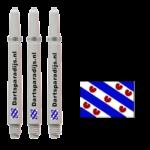 Shafts met de vlag van Friesland en tekst