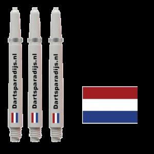 Shafts met Nederlandse vlag en tekst
