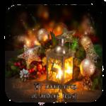 Luxe Hoogglans Onderzetters Kerstmis licht + tekst