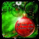 Luxe Hoogglans Onderzetters Kerstmis Kerstbal en eigen tekst.