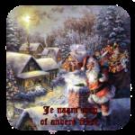 Luxe Hoogglans Onderzetters Kerstmis kerstman+ tekst