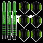 Winmau/Pentathlon combiset groen
