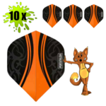 Dartflights Oranje Vision Tribal 10 setjes
