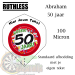 Ruthles Flights Abraham 50 met eigen tekst