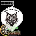 Ruthles Flights Grommende Wolf met eigen tekst