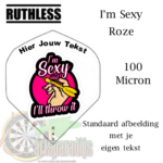 Ruthles Flights Sexy Roze met eigen tekst