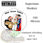 Ruthles Flights Superman Monkey met eigen tekst