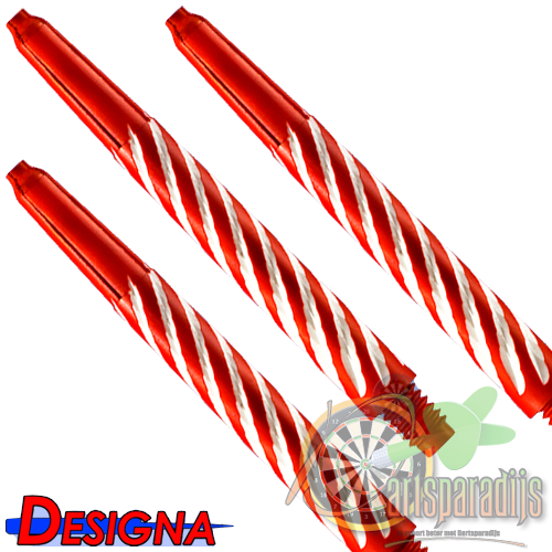 Spiroline Nylon Shaft Rood-Wit Medium