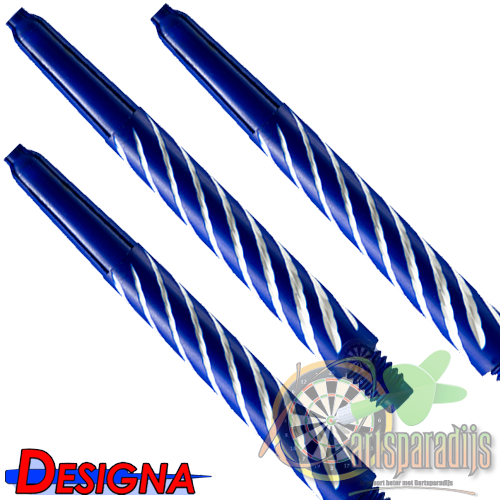 Spiroline Nylon Shaft Blauw-Wit Medium