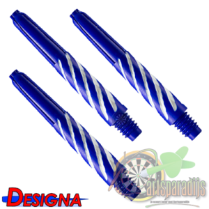 Spiroline Nylon Shaft Blauw-Wit Short