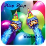 Bierviltje verjaardag Struisvogels