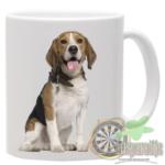 Mok bedrukt met Afbeelding Beagle