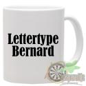 Mok bedrukt met lettertype Bernard