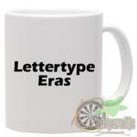 Mok bedrukt met lettertype Eras