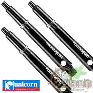 Unicorn gripper 3 dartshafts zwart Medium